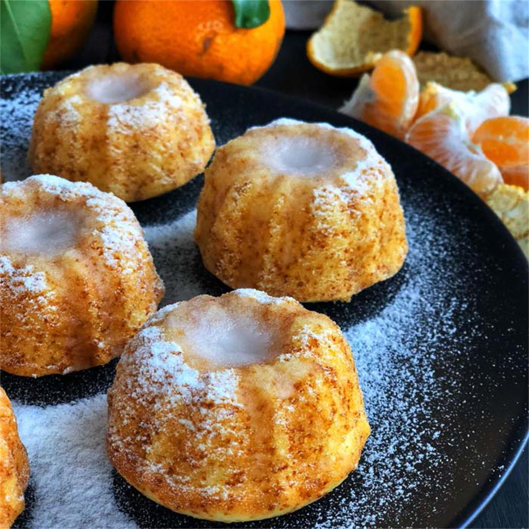 Mandarin Orange Mini Bundt Cakes