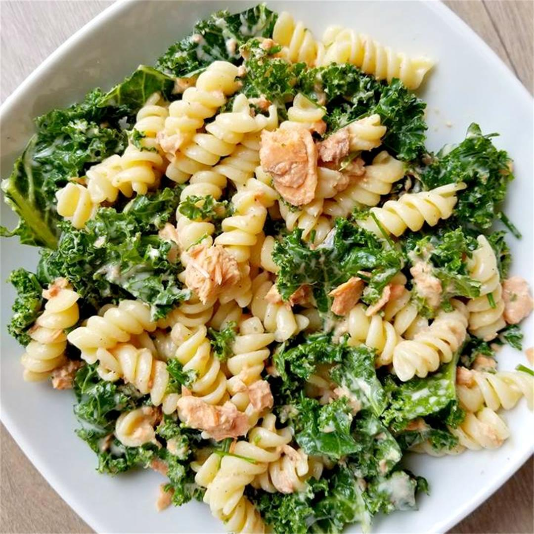 Salmon and Kale Pasta Salad
