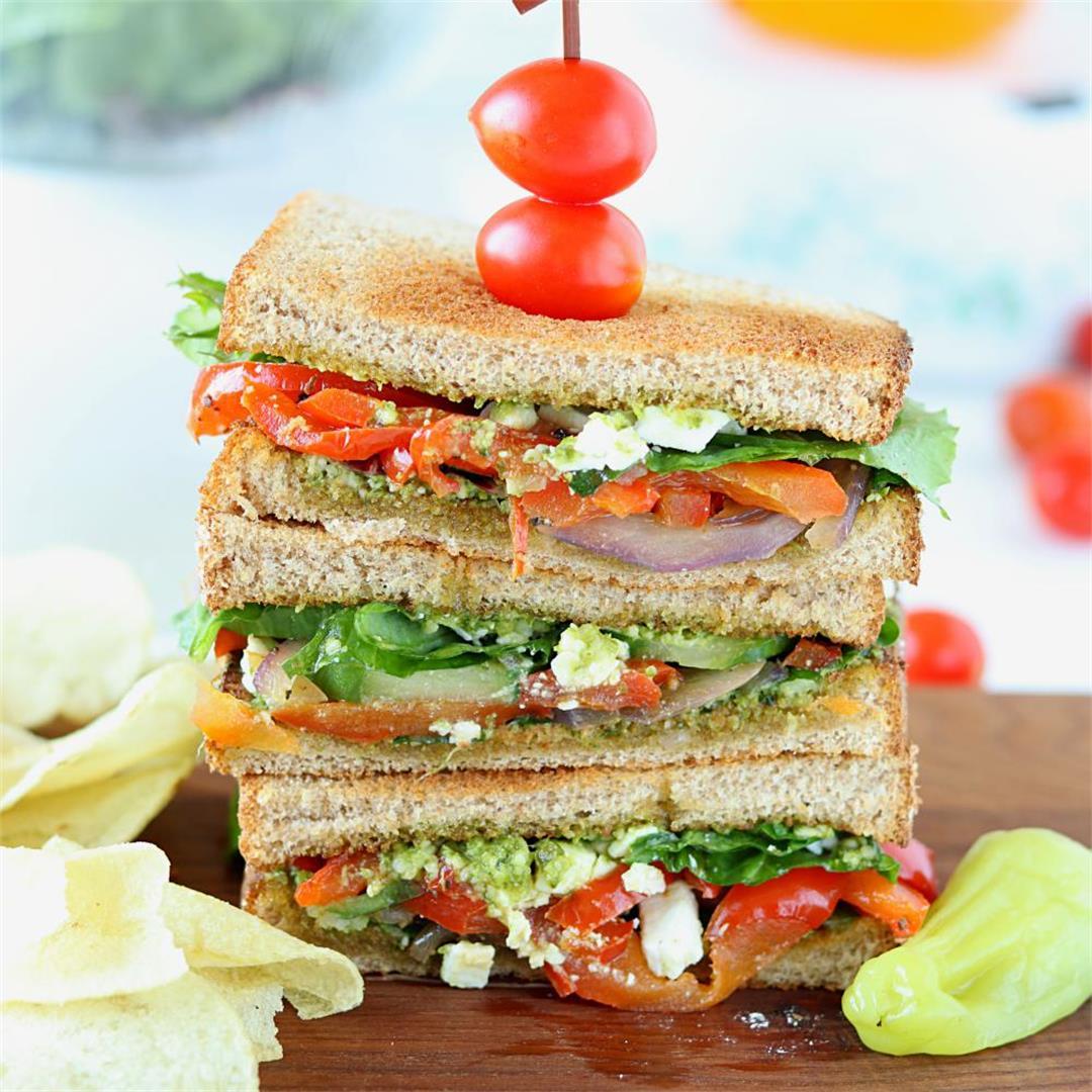Summer Veggie Sandwiches with Pesto