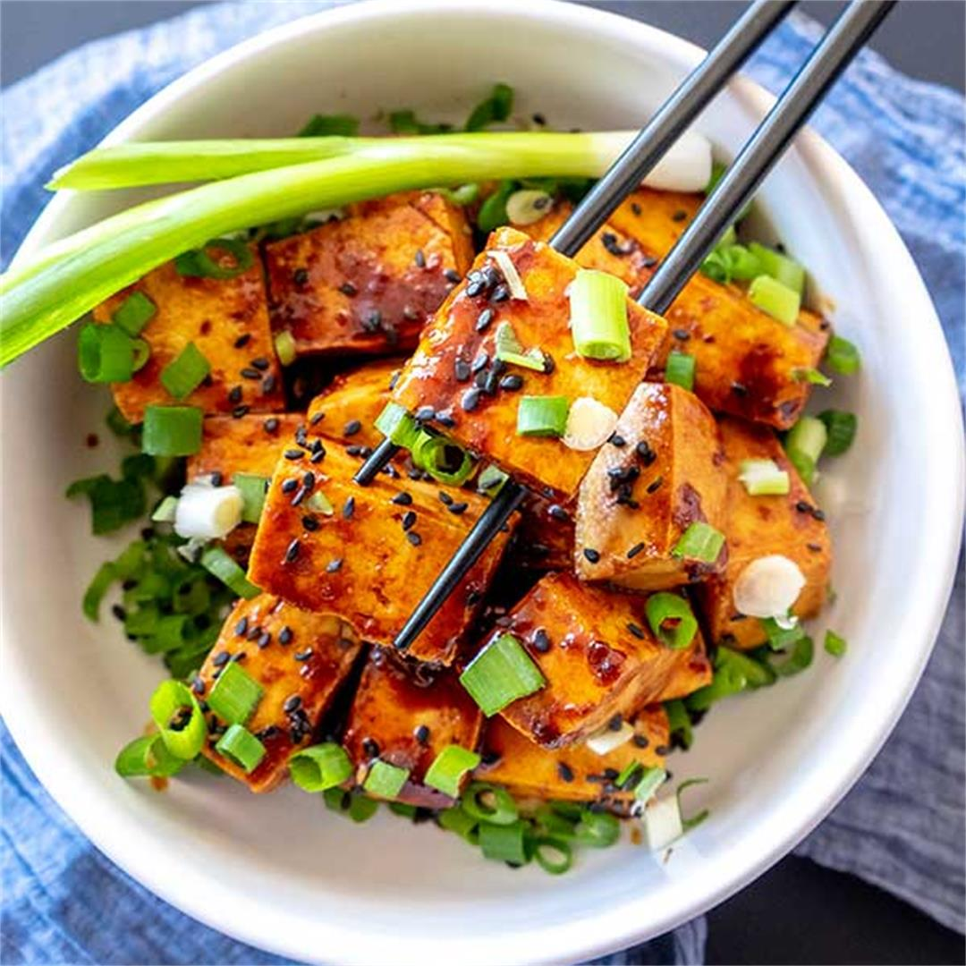 Crispy Tofu With Spicy Ginger Sauce