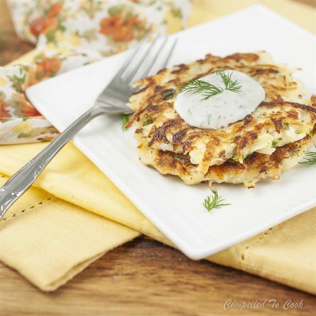 Kohlrabi Crab Cakes