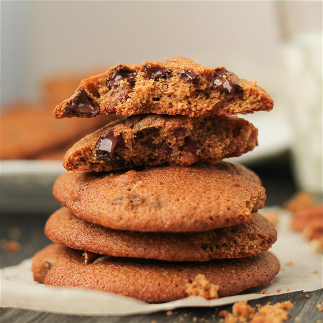 Chocolate Pecan Spelt Flour Cookies