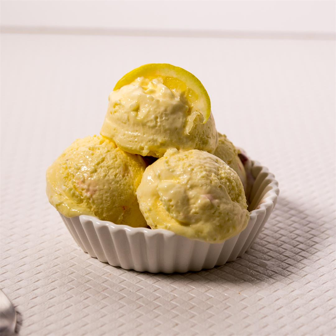 3 Ingredients Lemon Ice Cream no-churn