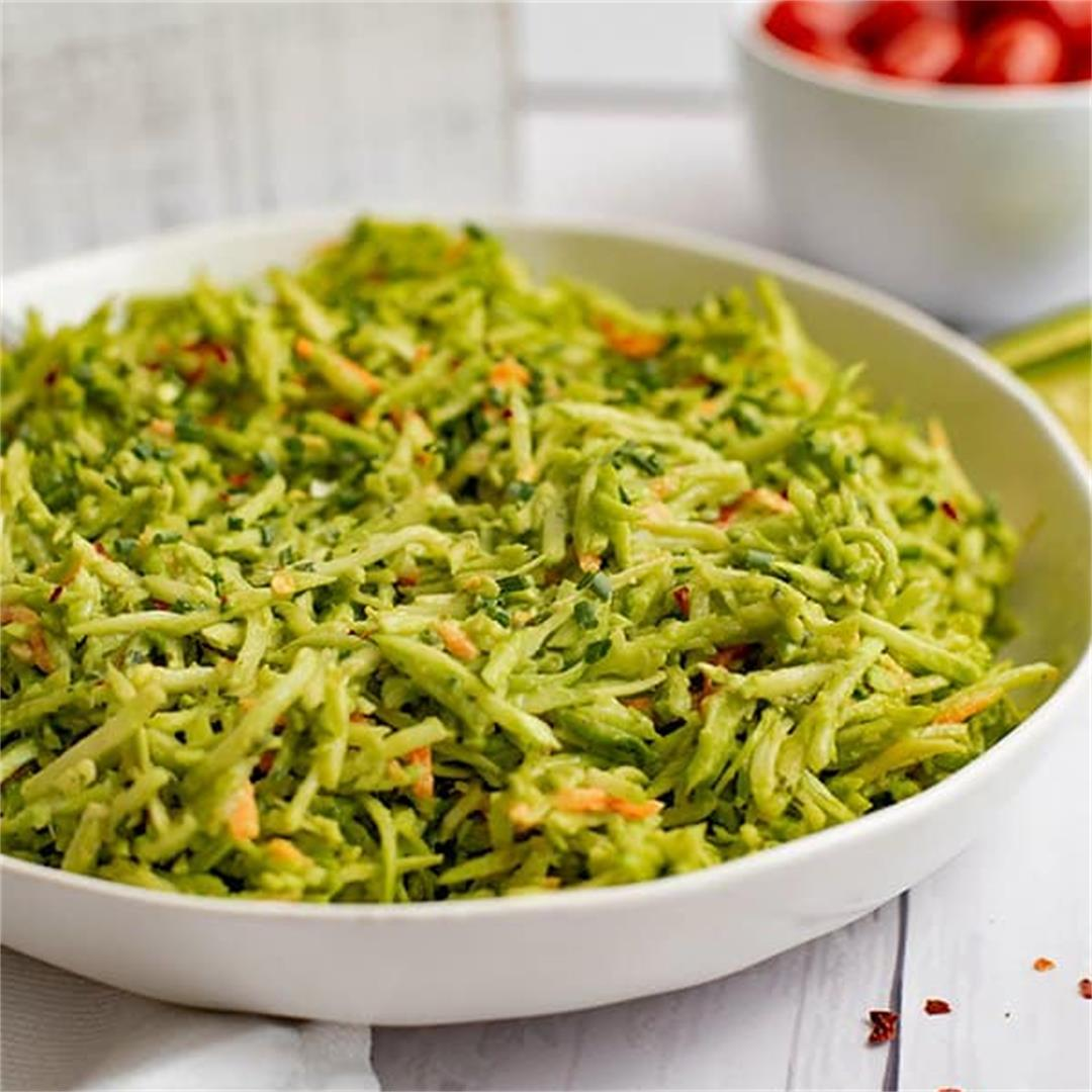 Broccoli Slaw Salad Avocado Ranch Dressing