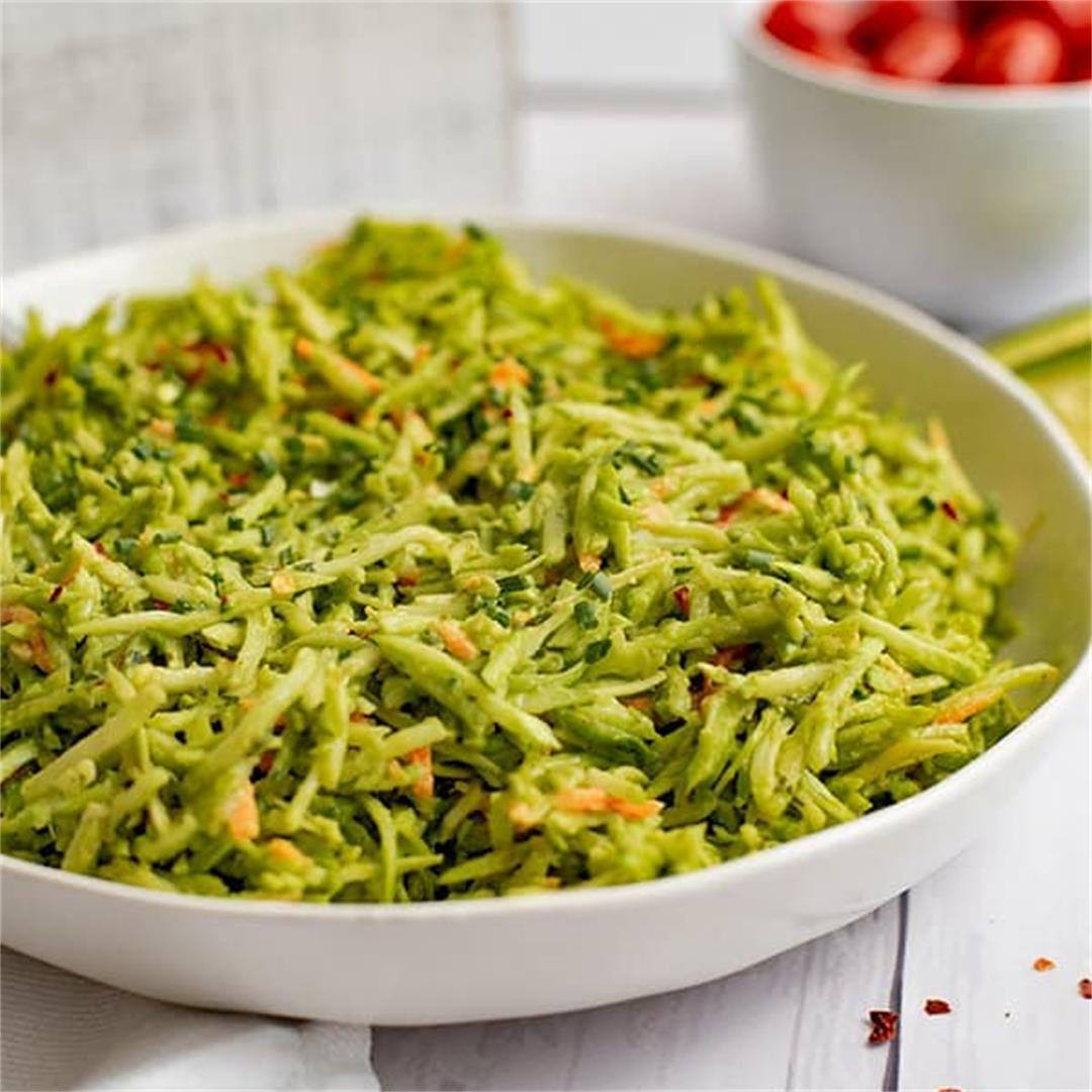Broccoli Slaw Salad Avocado Ranch Dressing