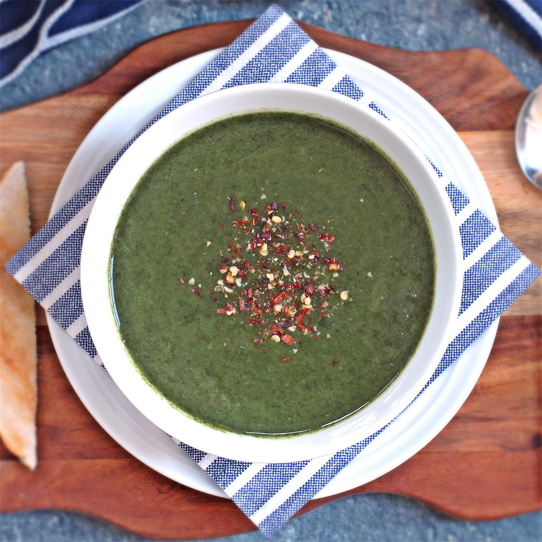 Quick Spinach Soup