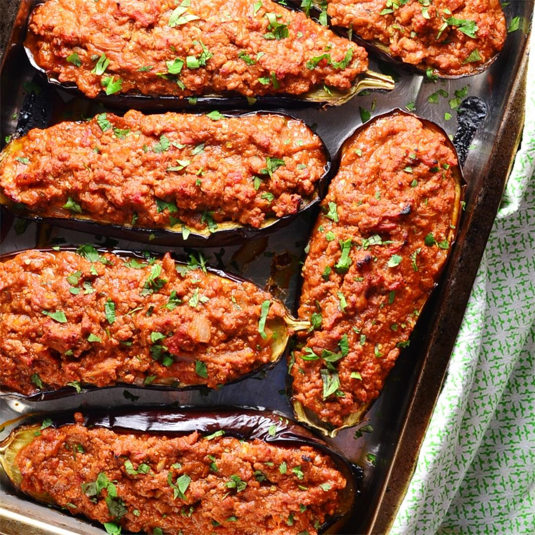 Easy Turkey Stuffed Eggplant Recipe