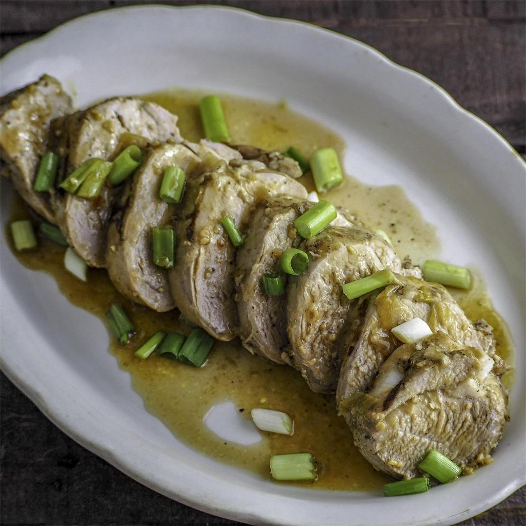 Instant Pot Garlic Ginger Soy Pork Tenderloin