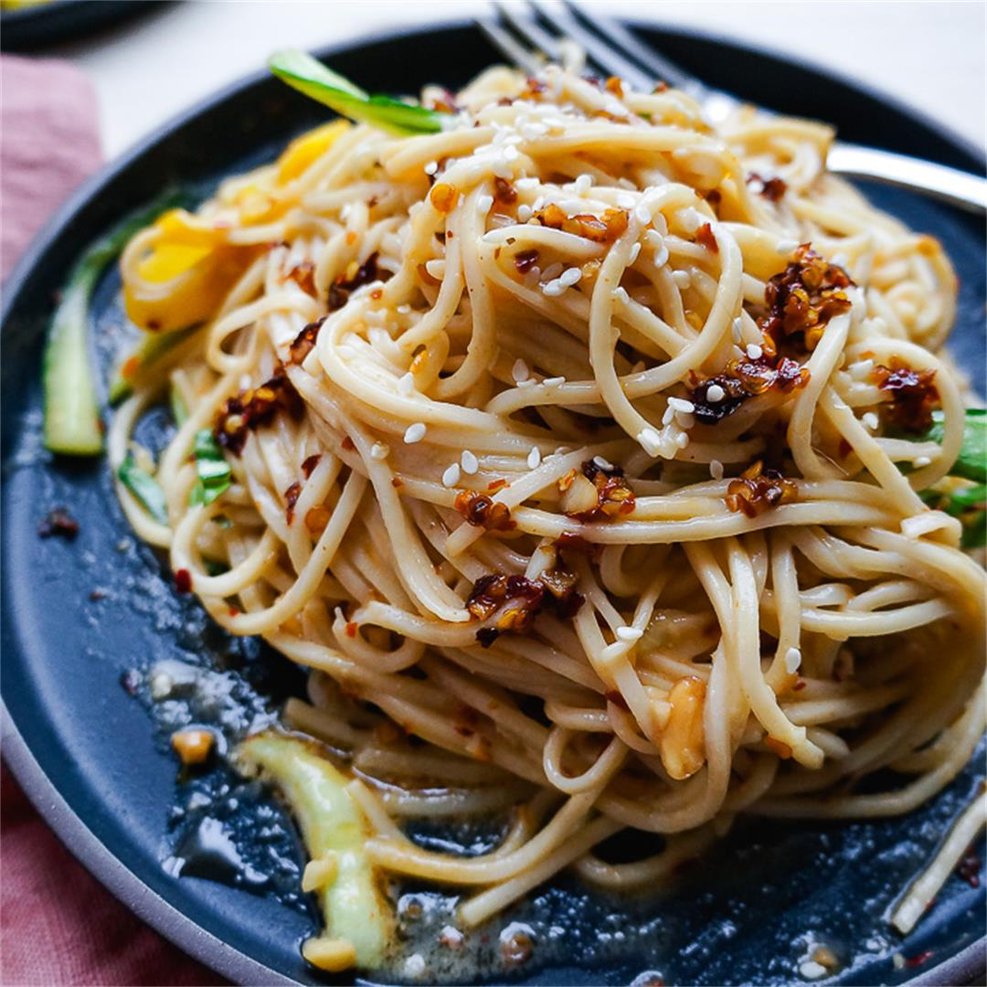 Peanut Noodles with Sichuan Chili Oil