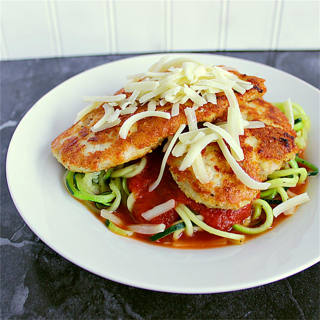 Low Carb Chicken Parmesan with Zoodles