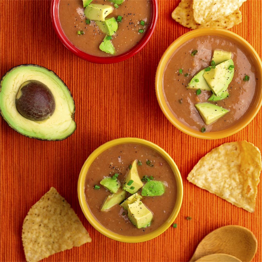 Instant Fiesta Soup with Beans and Salsa
