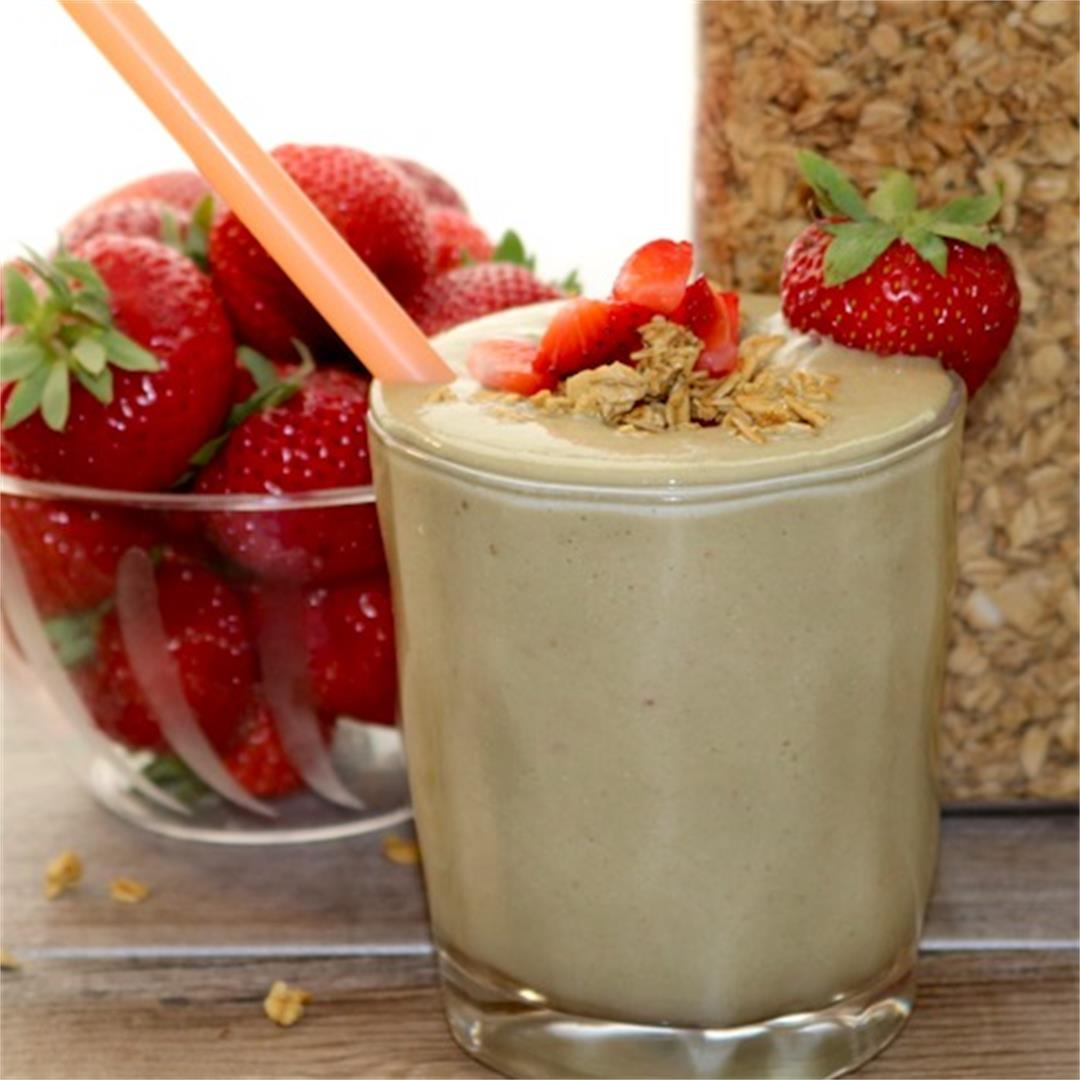 Breakfast Smoothie - with Wheat Germ & Greens