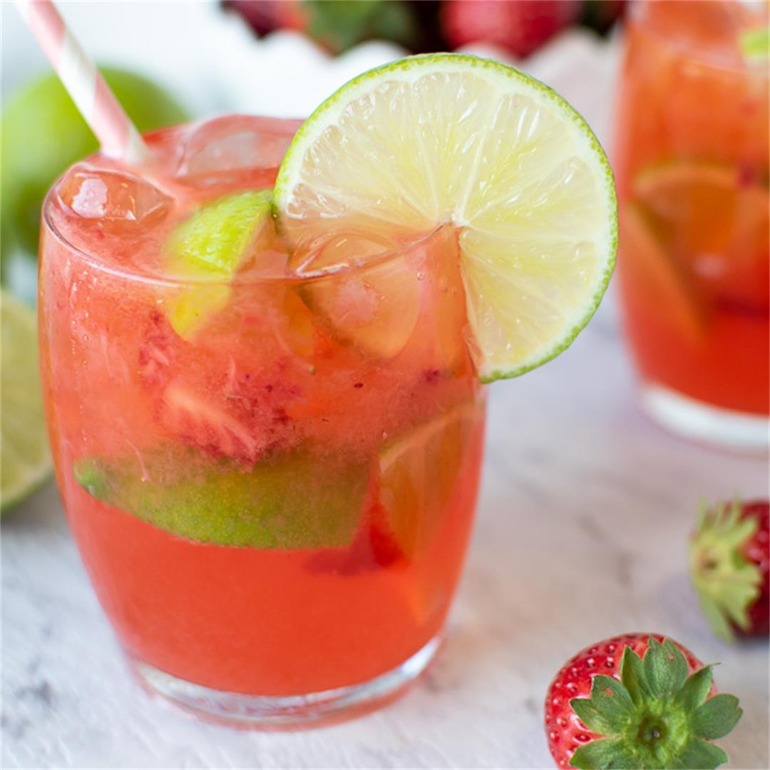 Strawberry Lime Water you can make in 10 minutes!