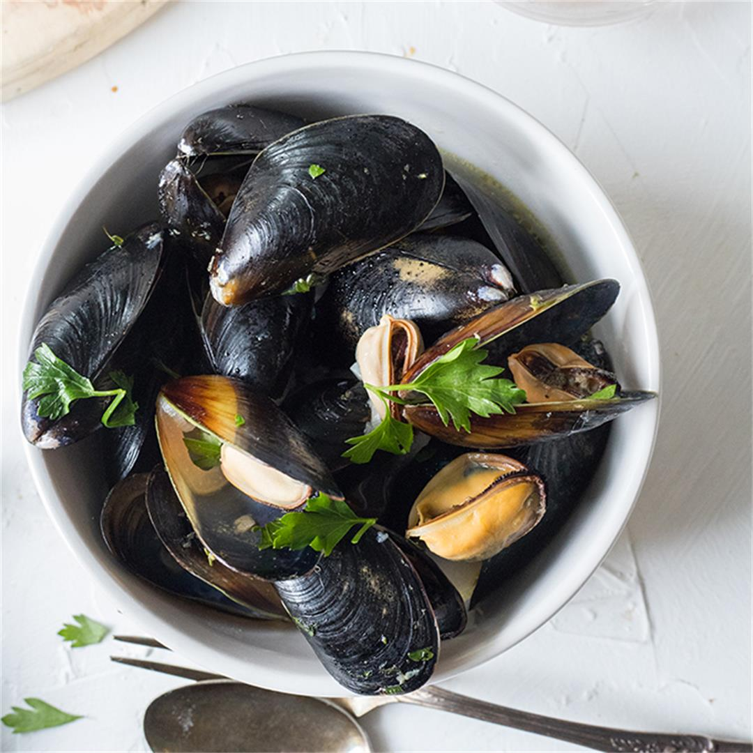 Rose Wine Mussels