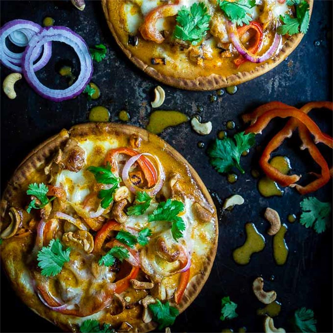 Thai Chicken Flatbread Pizza