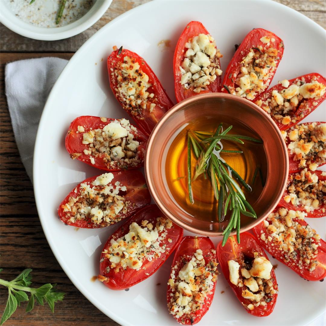 Addicting Feta Stuffed Grilled Tomatoes