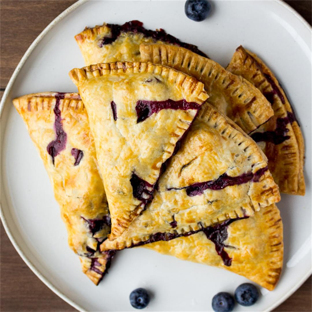 Rustic Lemon Blueberry Hand Pies