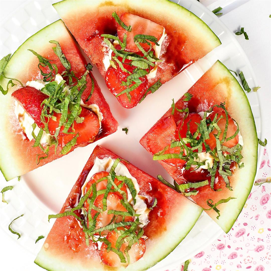 Watermelon Pizza Easy Fruit Dessert