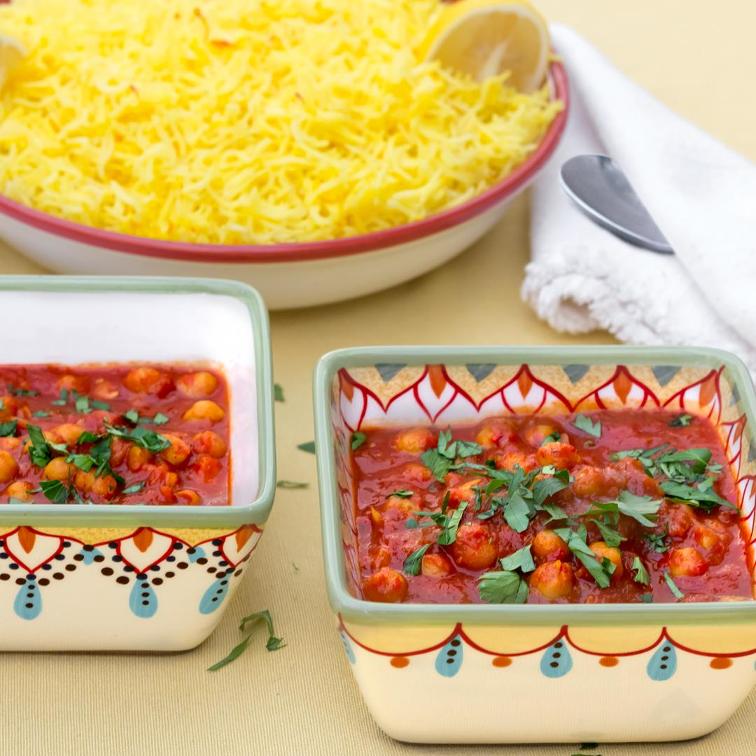 Moroccan Inspired Warm-Spiced Chickpeas