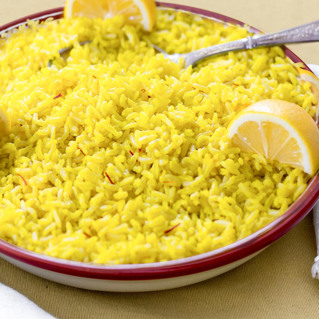 Saffron and Lemon Infused Basmati Rice
