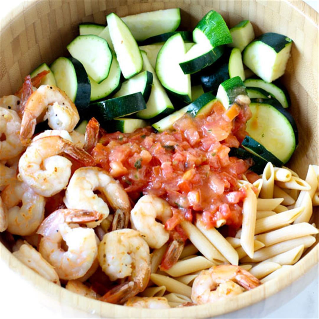 Bruschetta Shrimp Pasta