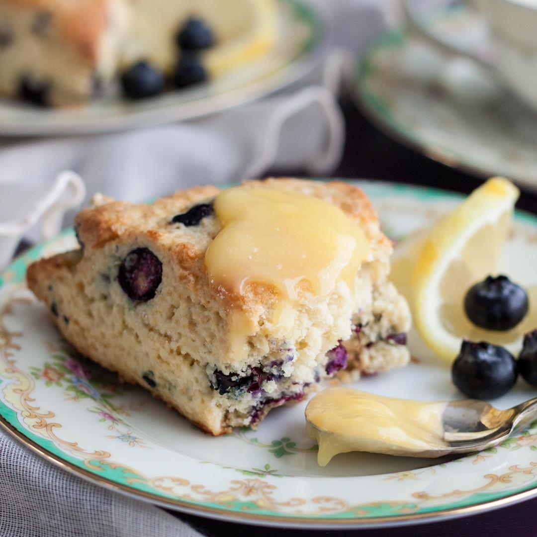 Lemon Blueberry Cream Scones