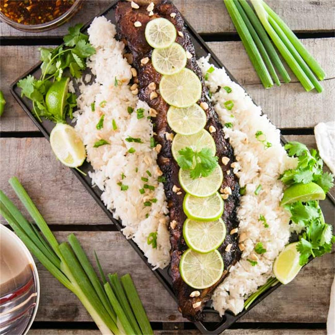Thai Pork Ribs with Coconut Rice