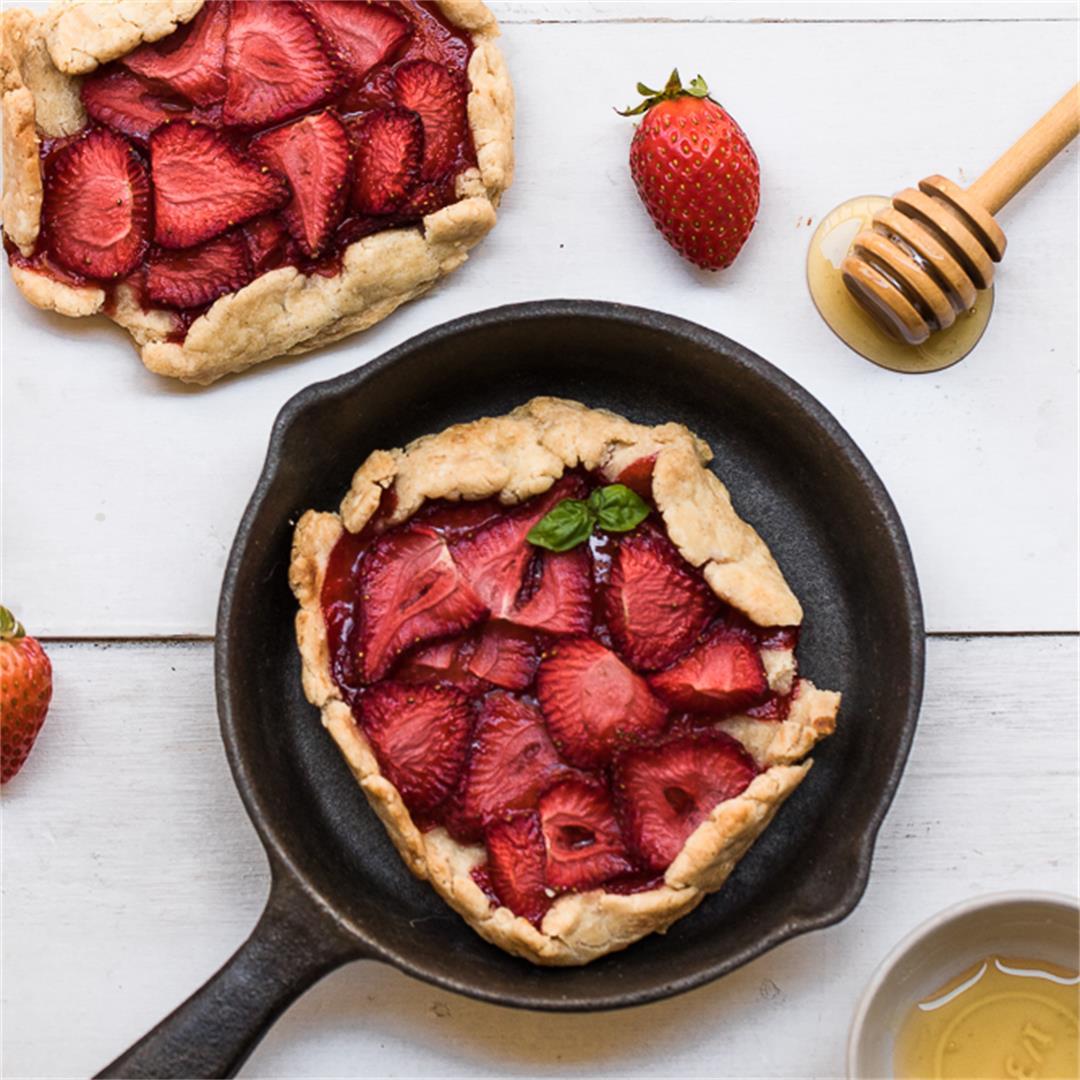 Mini Gluten Free Strawberry Galettes