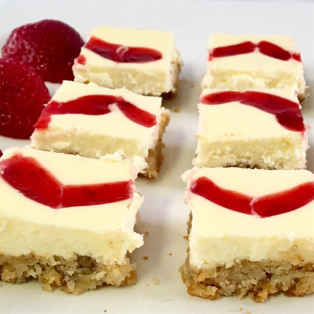 Low Carb Strawberry Cheesecake Squares