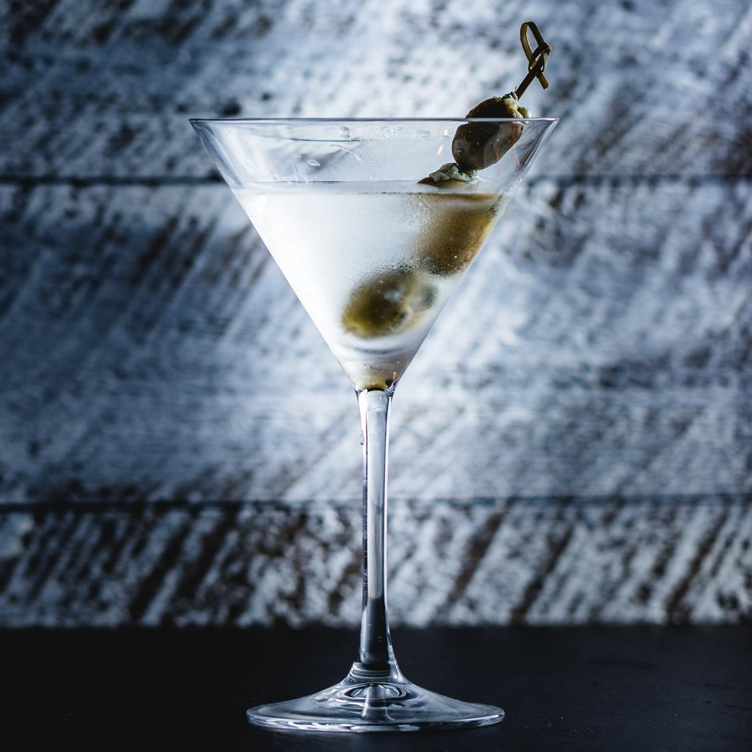 Classic Martini With Blue Cheese Olives