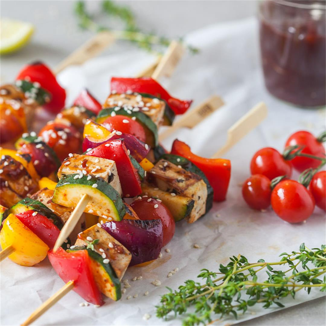 Vegan Grilled Tofu Skewers