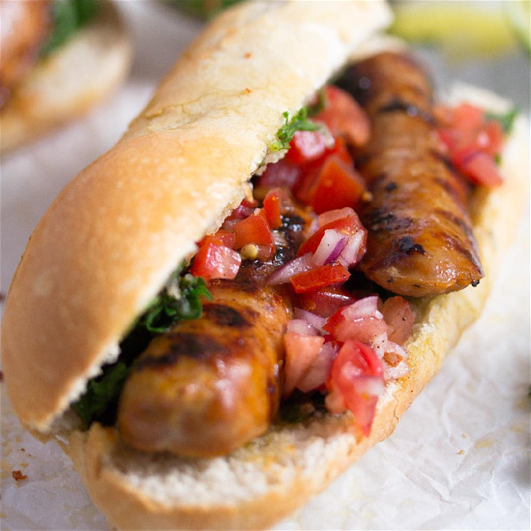 Choripán – Chorizo and Chimichurri Sandwich – Uruguayan Food