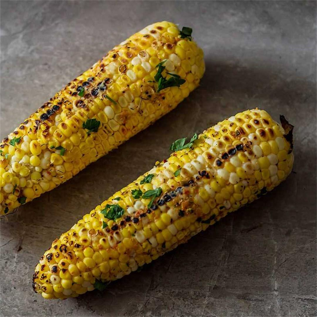 {French Onion} Grilled Corn On The Cob