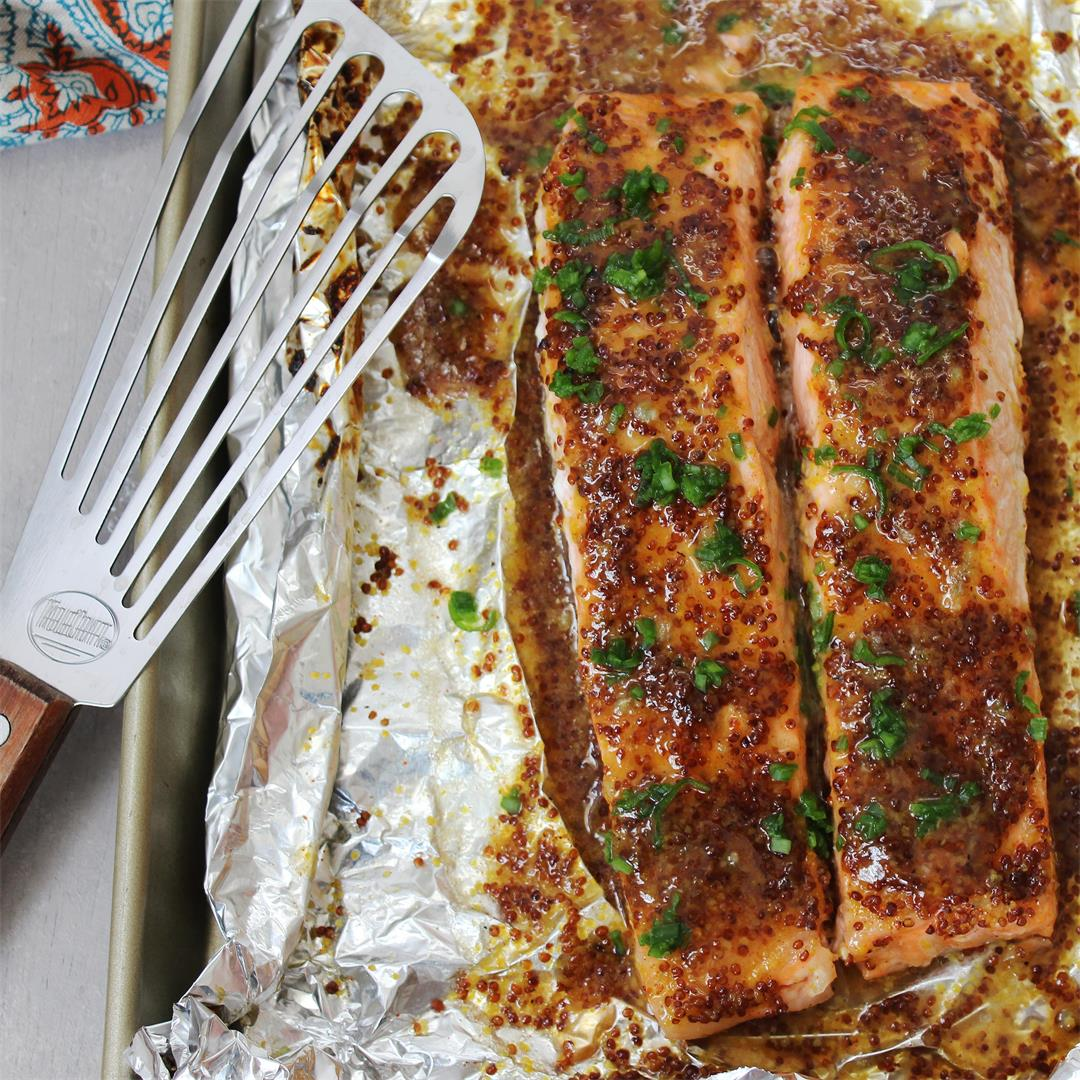 Honey Mustard Broiled Salmon