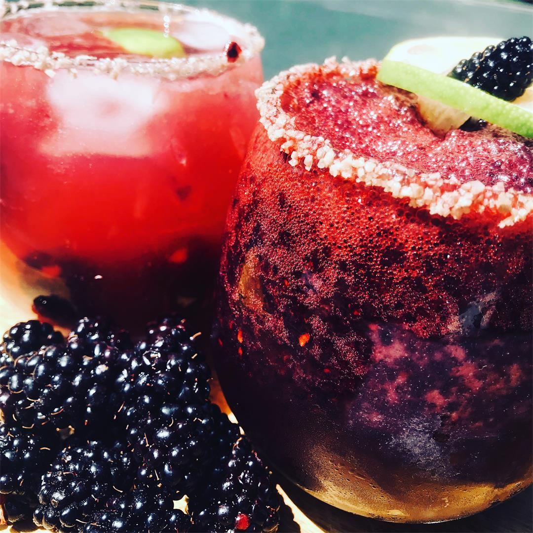 Blackberry Smoked Salt Margarita