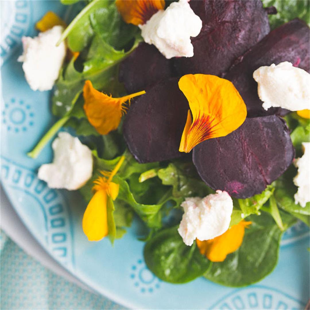 Roasted Beet and Ricotta Salad