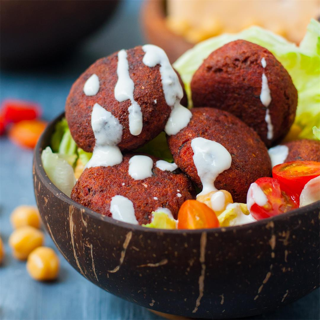 Easy Beetroot Falafel