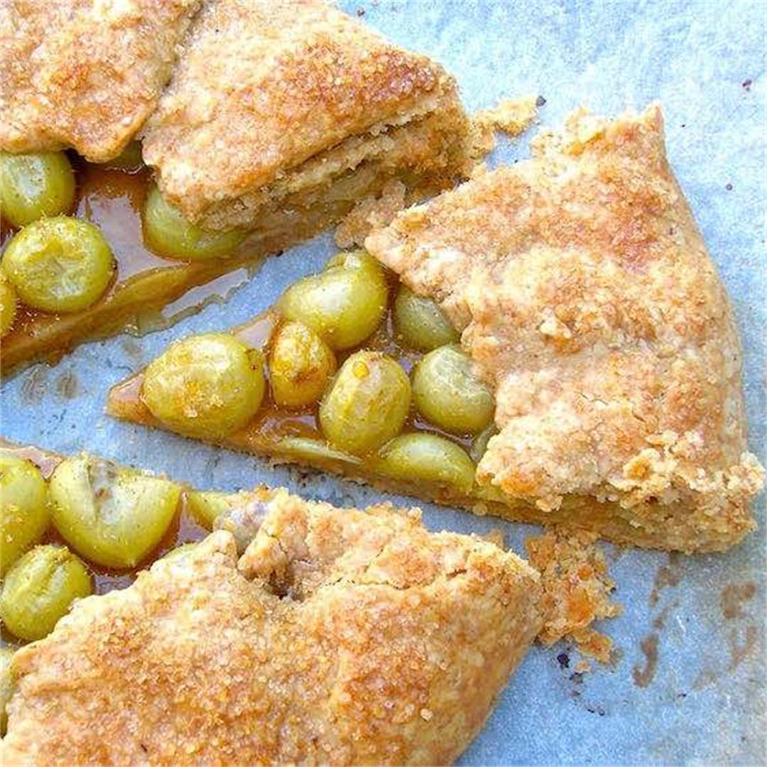 Gooseberry Galette (Rustic French Tart)
