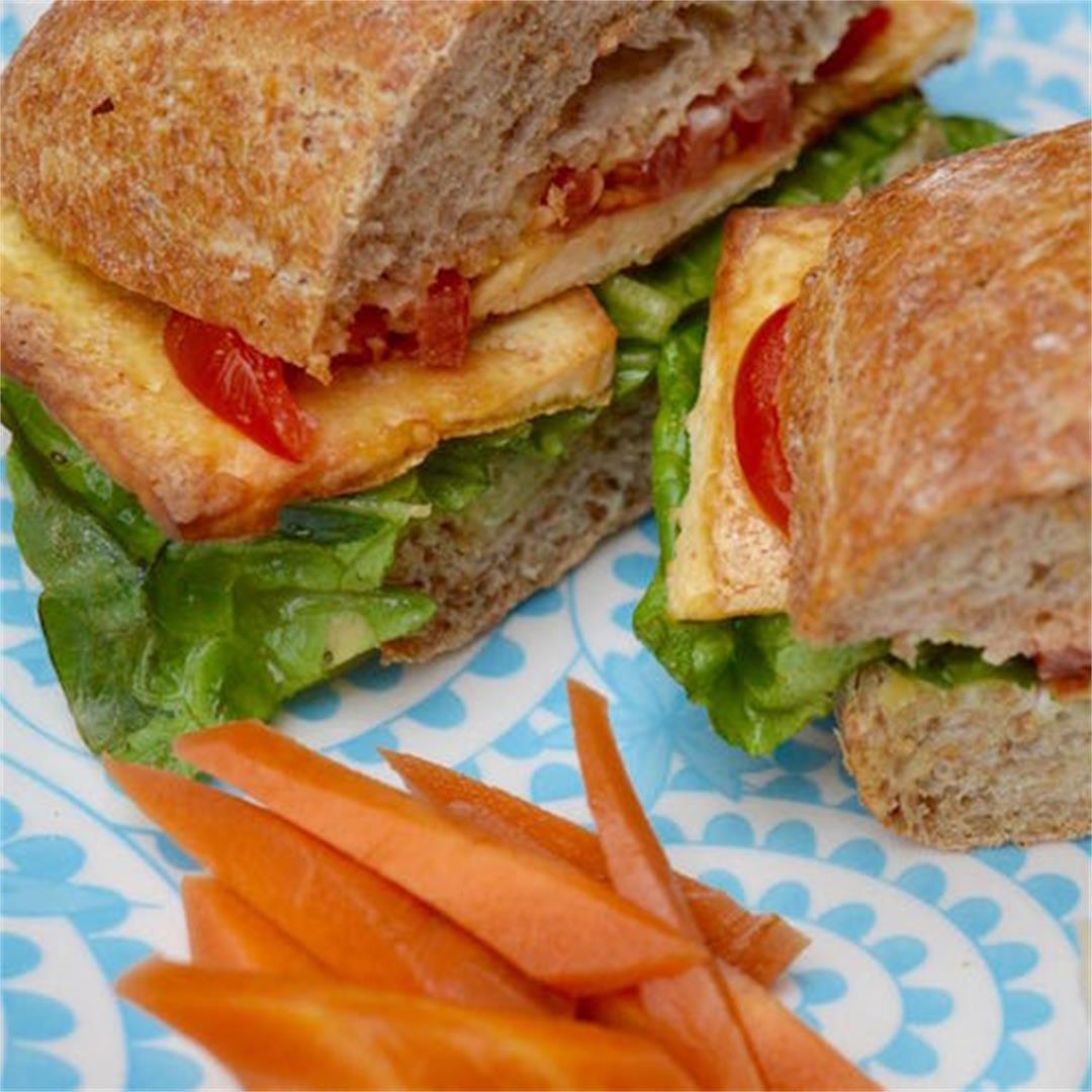 Smoked Tofu, Lettuce & Tomato Sandwich
