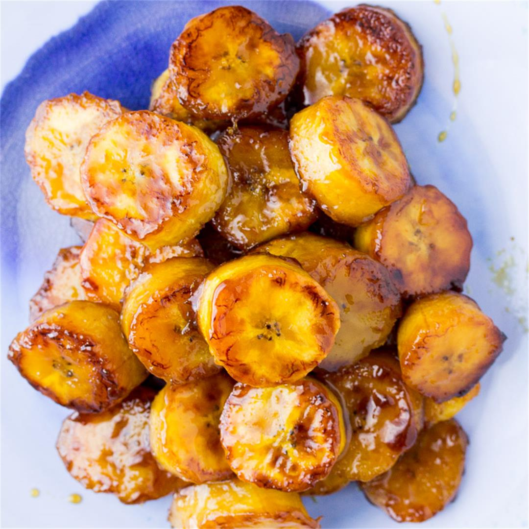 Sticky Sweet Fried Plantains