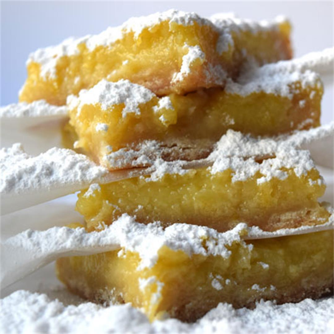 Lemon bars are zesty and sweet thanks to fresh juice + sugar.