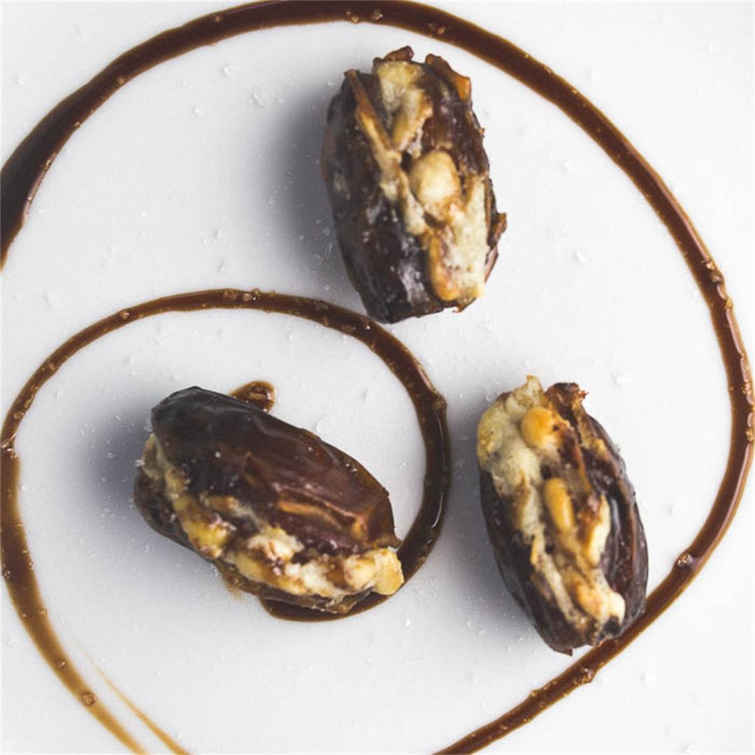 Roasted Dates with Ricotta
