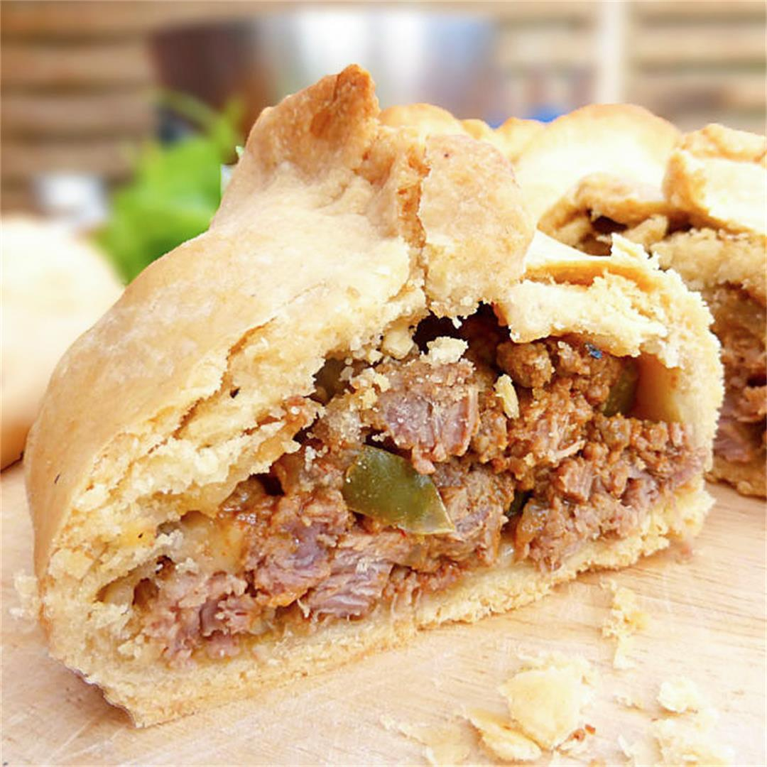 Homemade Spicy Beef and Onion Pasties (from scratch)