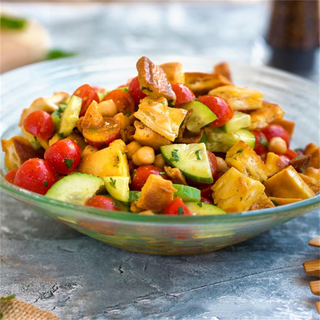 Curried Naan Panzanella Salad