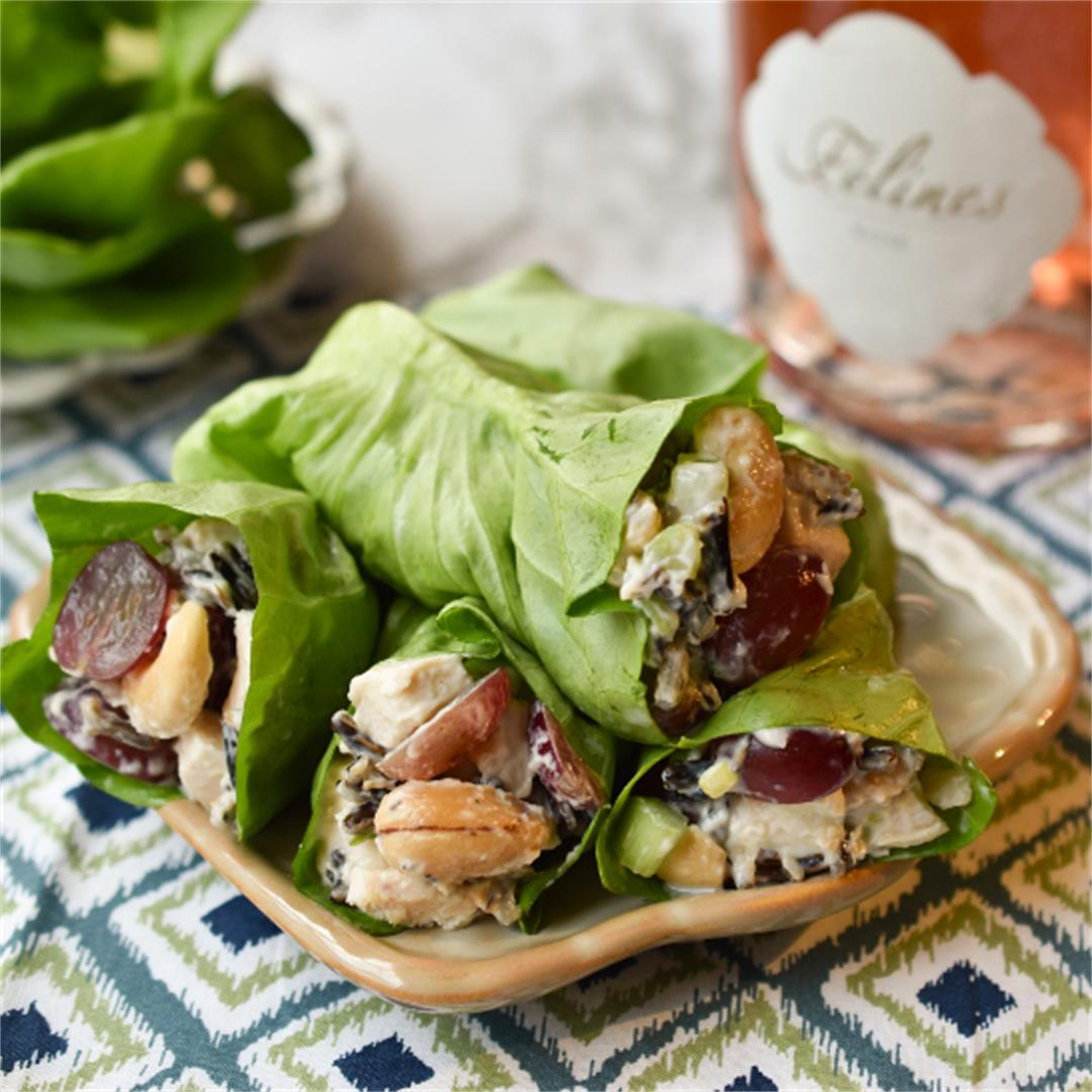 Wild Rice and Chicken Salad Lettuce Wraps
