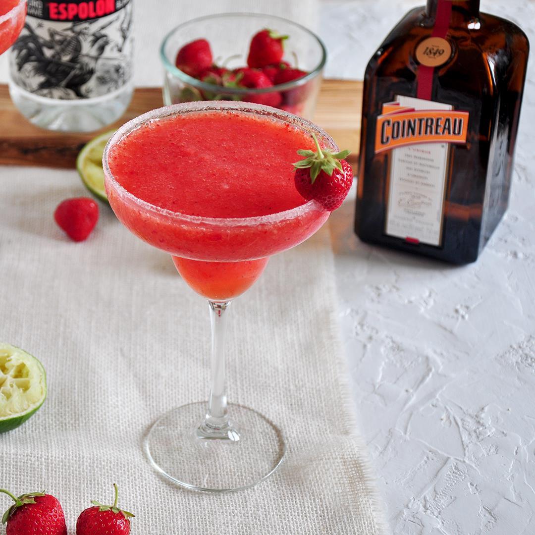 The Best Frozen Strawberry Margarita
