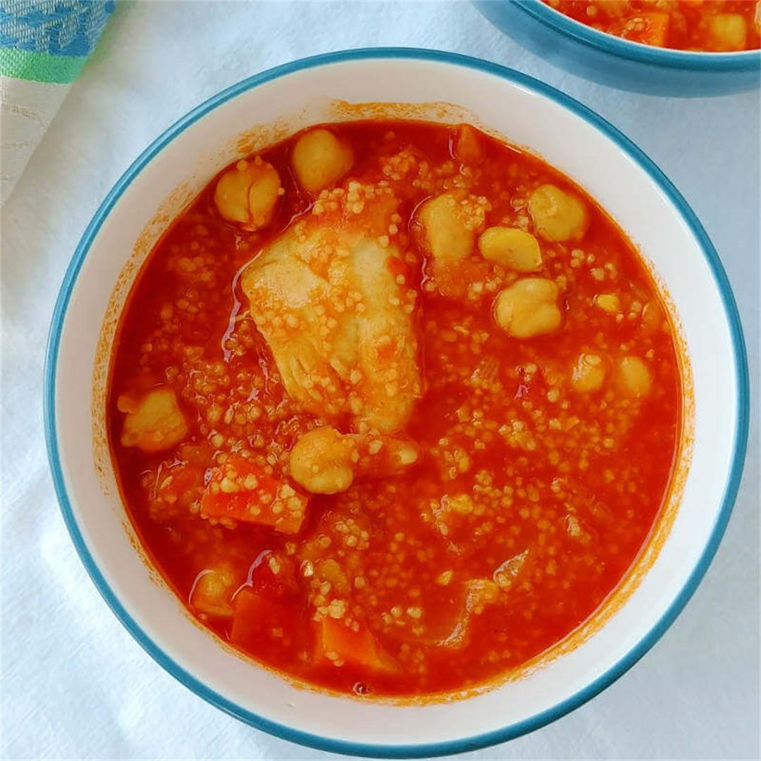 Stewed Chicken and Chickpeas