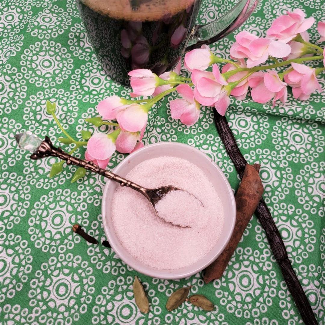Cardamom Spiced Vanilla Sugar {Indian Coffee Sugar}