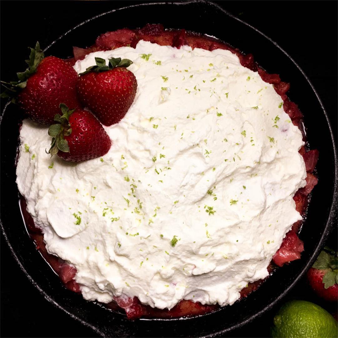 Gluten Free Strawberry Cornbread Poke Cake