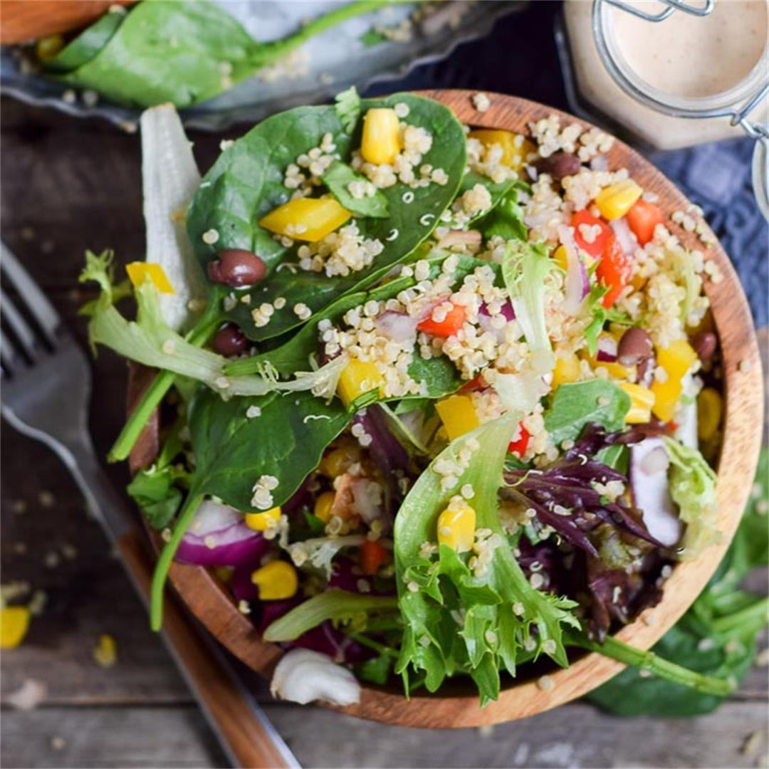 Quinoa Black Bean Summer Salad